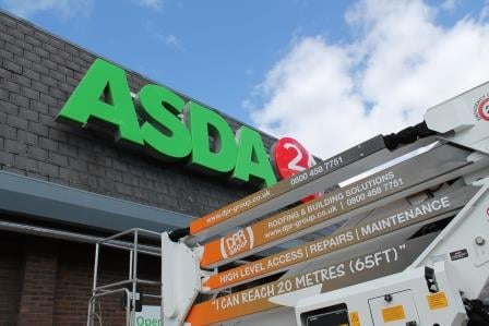 Asda Store Roof Repair 3