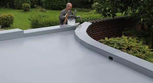 Painting a flat roof in Pontefract